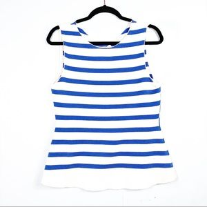 Anthropologie MOTH Blue & White Striped Knit Top